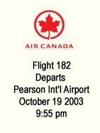 Air Canada Flight Details
