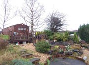 The back garden of Brent's new house in Scotland